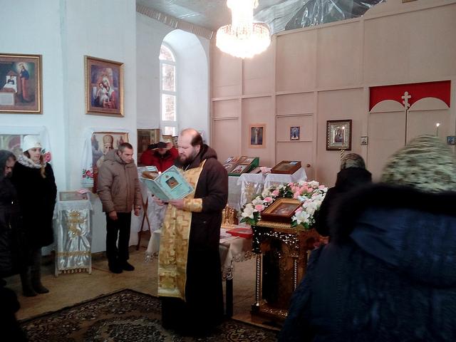 В Храме зачитано Рождественское послание Святейшего Патриарха.